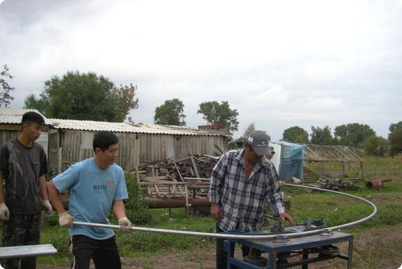 비닐하우스 설치작업