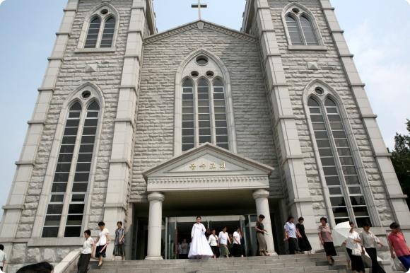 봉수교회의 모습